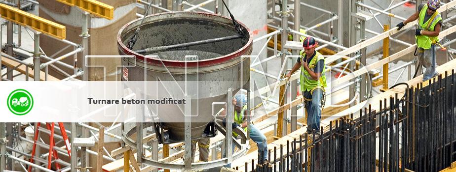 Turnare beton modificat.